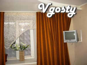 One room - a bedroom, second room - studio, in which - Apartments for daily rent from owners - Vgosty