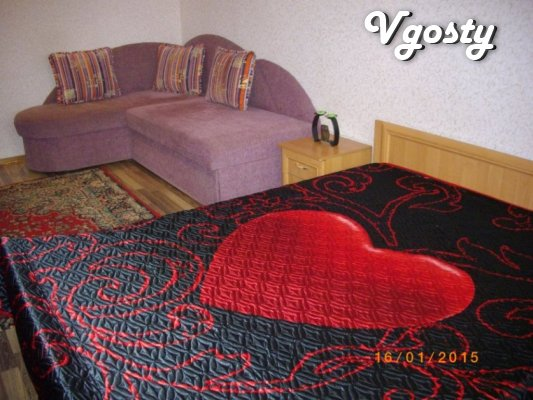 Rent 2 to studio apartment, bedroom is isolated, 7 beds - Apartments for daily rent from owners - Vgosty