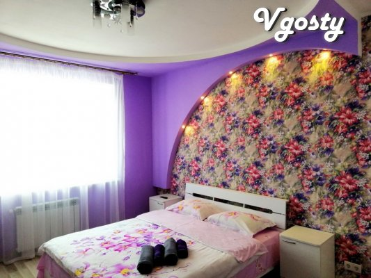 2-in., CENTER, new building, separate rooms, views of the city, Design - Apartments for daily rent from owners - Vgosty