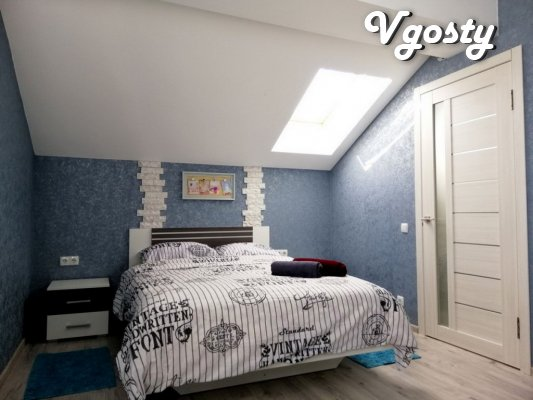 Новострой, центр, Мансарда с выходом на крышу - Apartments for daily rent from owners - Vgosty