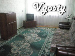 # Area - 50 m2. # 3 floor. # The two sofas and an armchair. # 5 - Apartments for daily rent from owners - Vgosty
