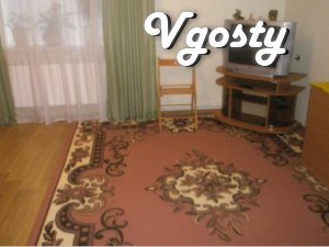 # Area - 50 m2. # 1 floor. # Double bed with - Apartments for daily rent from owners - Vgosty
