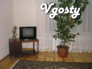 # Area - 100 m2. # 6 floor. # Double bed with - Apartments for daily rent from owners - Vgosty