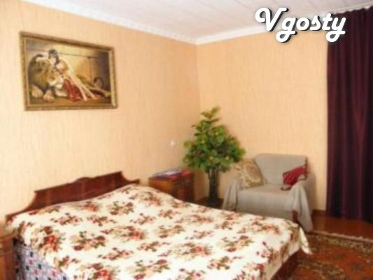 """The apartment is in a quiet neighborhood, across the park, """"Quay& - Apartments for daily rent from owners - Vgosty"""