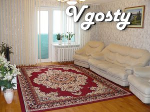 Cozy 2 bedroom kvartiraBiznes - class facility, 8th Floor - Apartments for daily rent from owners - Vgosty