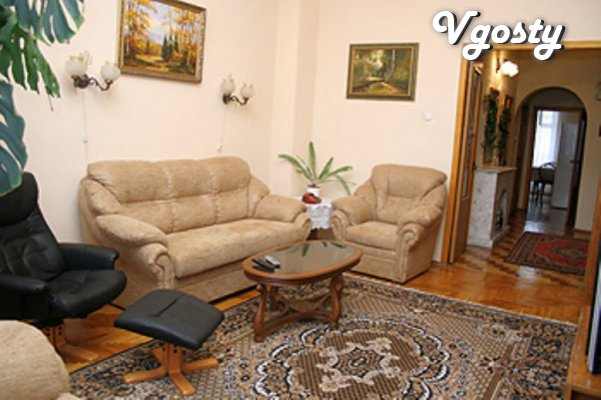 Rent a spacious and comfortable 2-bedroom apartment in the city center - Apartments for daily rent from owners - Vgosty