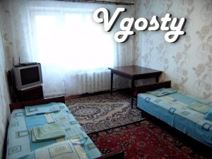 For rent 1 bedroom apartment Standard class Slavyansk - Apartments for daily rent from owners - Vgosty