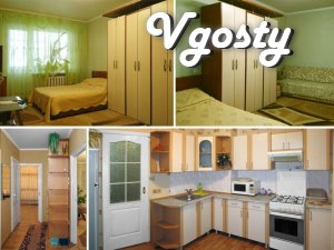 Daily! Hourly (in the afternoon)! 1-room. apartment with modern renova - Apartments for daily rent from owners - Vgosty