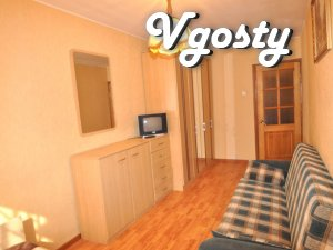 Trehkomnatnaya apartment sderzhanom, spokoynom Style - Apartments for daily rent from owners - Vgosty