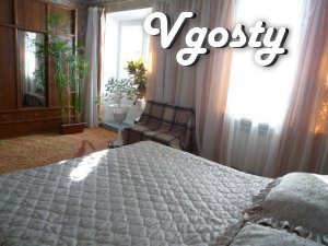 Rent 2-room, 3-room apartment (80 square meters) WI-FI. No extra charg - Apartments for daily rent from owners - Vgosty