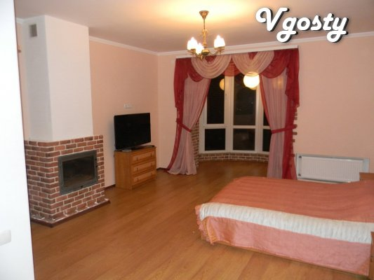 Luxury apartment with a fireplace on the tail. There is WI-FI. - Apartments for daily rent from owners - Vgosty
